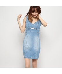 GUESS/ゲス GUESS SADIE DENIM BODYCON DRESS (SADIE WASH)/502458146
