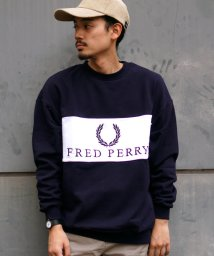 BEAMS MEN/FRED PERRY × BEAMS / 90sロゴ 切替 クルースウェット/502459024