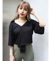 EMODA/ハーフスリーブフロントタイシャツ/502420358