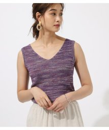AZUL by moussy/MIX COLOR KNIT TANK/502459705