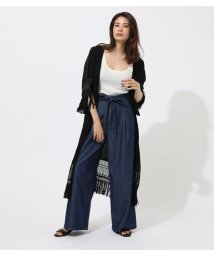 AZUL by moussy/LACE FRINGE GOWN/502459708