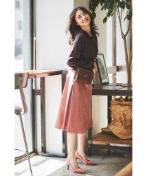 PROPORTION BODY DRESSING/|美人百花 10月号掲載|◆フェイクスエードサイドプリーツスカート/502459785