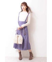 PROPORTION BODY DRESSING/◆フェイクスエードプリーツミックスジャンパースカート/502459791