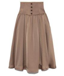 Lily Brown/フロントボタンサテンスカート/502459967