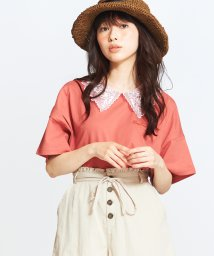 WEGO/シアーエリツキ刺繍ロゴT/502354372