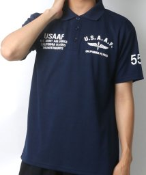 MARUKAWA/ドライ ミリタリー エアフォース 半袖ポロシャツ/502423608