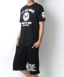 MARUKAWA/ドライ ミリタリー エアフォース 半袖Tシャツ ハーフパンツ 上下セット/502423609