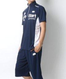 MARUKAWA/ドライ スポーツ 切替 ハーフジップ 半袖Tシャツ ハーフパンツ 上下セット/502423610