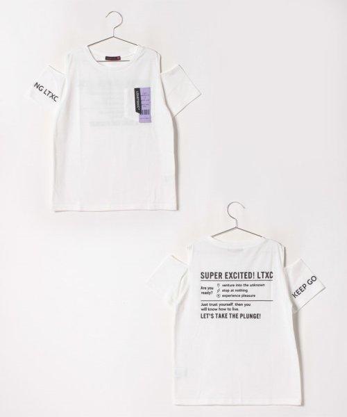 Lovetoxic(ラブトキシック)/肩開きネームポケットTシャツ/8393212