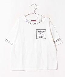 Lovetoxic/衿スリットロゴTシャツ/502450232