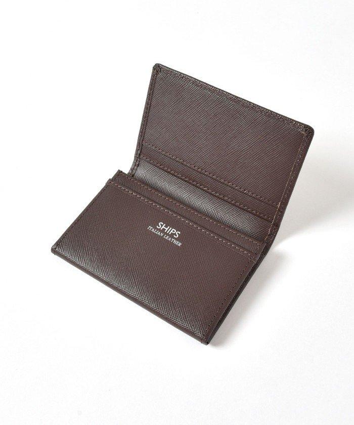 シップス SHIPS:イタリアンレザー カードケース (名刺入れ) メンズ ブラウン ONESIZE 【SHIPS】