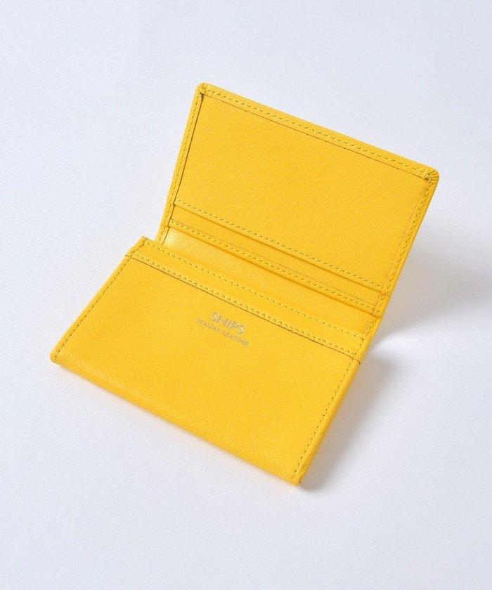 シップス SHIPS:イタリアンレザー カードケース (名刺入れ) メンズ イエロー ONESIZE 【SHIPS】