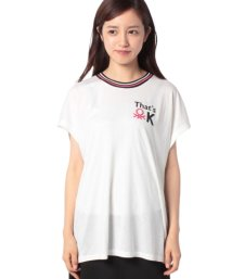 BENETTON (women)/ロゴプリントフレンチ半袖Tシャツ・カットソー/502457350