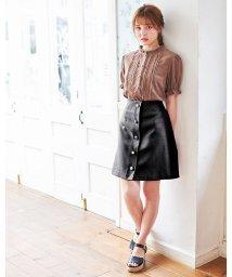 INGNI/アソート釦変わり織り台形/スカート             /502458593
