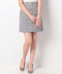 INGNI/アソート釦チェック柄台形スカート/502458599