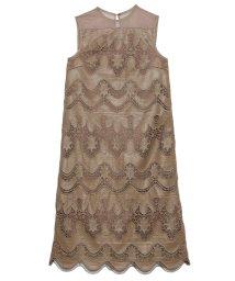 CELFORD/フェイクレザー刺繍ドレス/502461984