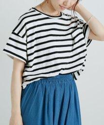 framesRayCassin/スラブボーダーポケット付Tシャツ/502462302