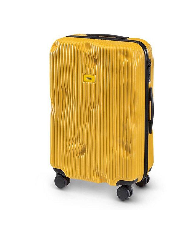 カバンのセレクション クラッシュバゲージ スーツケース Mサイズ 65L かわいい 軽量 CRASH BAGGAGE cb152 ユニセックス イエロー フリー 【Bag & Luggage SELECTION】