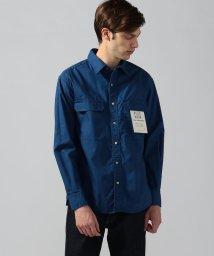 BLUE WORK/コットンポプリン ワークシャツ/502284224