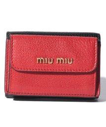MIUMIU/【MIU MIU】ミツオリ財布/502431197