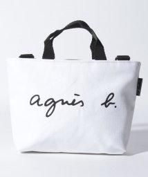agnes b. ENFANT/S137 E SAC ロゴ刺繍ハンドバッグ/502458660