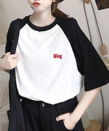 felt maglietta/刺繍ロゴがポイント◎トレンドのゆるT/韓国/Tシャツ/トップス 夏/502462590