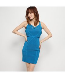 GUESS/ゲス GUESS MIRAGE TEASHA BANDAGE DRESS (BAYSIDE TEAL)/502465750