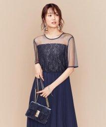 KUMIKYOKU(LARGE SIZE)/【PRIER】ヨーク切り替えプリーツワンピース ドレス/502466709