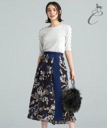 JIYU-KU /【Class Lounge】FLOWER DOTS PRINT スカート/502466711