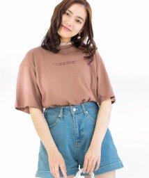 WEGO/WEGO/フリルネックロゴTシャツ/502371846