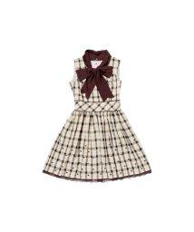 LODISPOTTO/ショコラハートチェックワンピース / mille fille closet/502409292