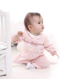 e-baby/フラワージャガードチュールフリルカバーオール/502420212
