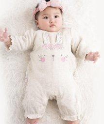 e-baby/接結ウサギプリントカバーオール/502420217
