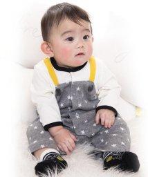 e-baby/星ジャガード+天竺サロペット風カバーオール/502420230