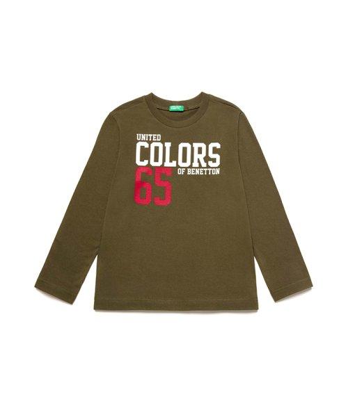 BENETTON (UNITED COLORS OF BENETTON BOYS)(ユナイテッド カラーズ オブ ベネトン ボーイズ)/ベーシックロゴプリントTシャツ・カットソー/19A3YR3C14A7
