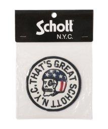 Schott/HELMET SKULL PATCH/ヘルメットスカル ワッペン/502466801