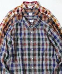 coen/【至極の逸品】ウインターリネンチェックシャツ(WEB限定サイズXS有り)/502468111