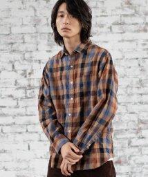 coen/ウインターリネンチェックシャツ(WEB限定サイズXS有り)/502468111
