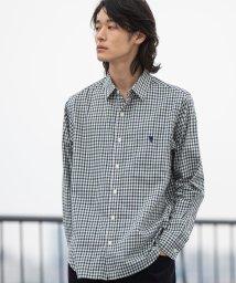 coen/シェパードチェックレギュラーカラーシャツ/502468116