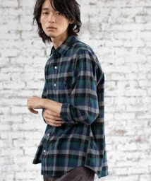 coen/カラーブロックネルチェックシャツ(WEB限定サイズXS有り)/502468117
