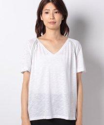 SISLEY/コットンモダールVネックラメ半袖Tシャツ・カットソー/502427401