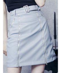 EATME/ジップフェイクレザースカート/502469997