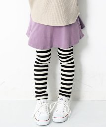 devirock/キッズ 子供服 ボーダー10分丈スカッツ 女の子/502470055