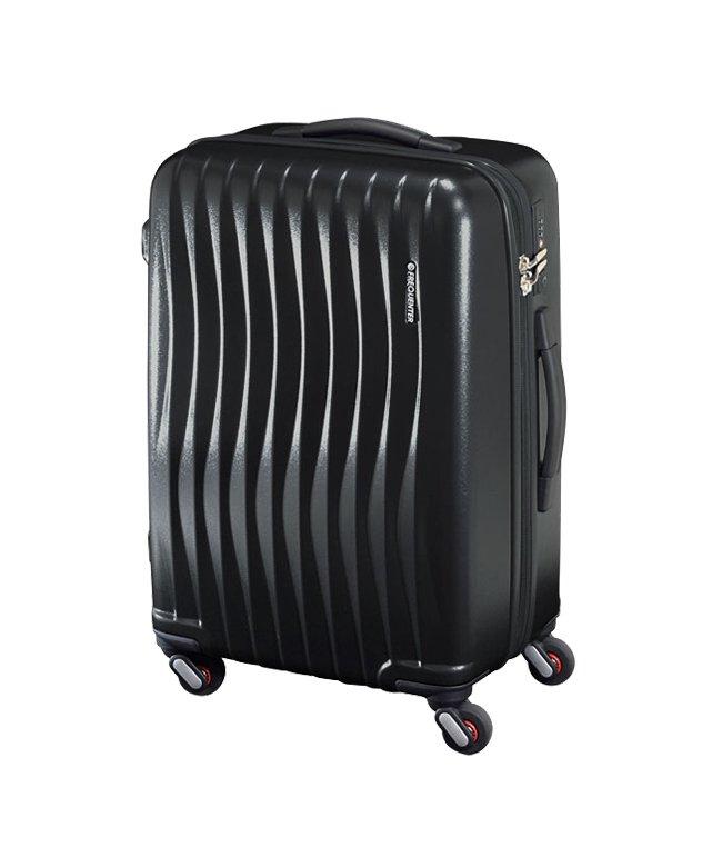 カバンのセレクション フリクエンター ウェーブ スーツケース Mサイズ 56L FREQUENTER WAVE 1−621 軽量 静音 交換キャスター ダイヤルロック ユニセックス ブラック 在庫 【Bag & Luggage SELECTION】