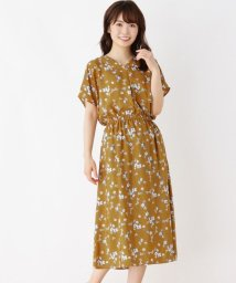 SHOO・LA・RUE DRESKIP/【M-LL】花柄タック入りワンピース/502470592