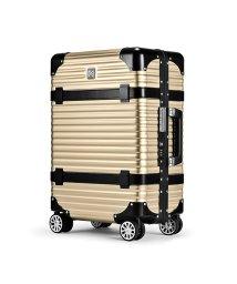 LANZZO/ランツォ スーツケース 機内持ち込み LANZZO VIKING 33L Sサイズ バイキング アルミフレーム アルミボディ 革ベルト/502470831