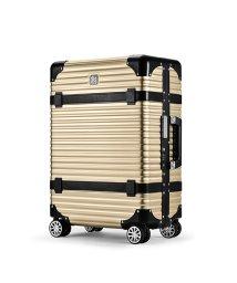 LANZZO/ランツォ スーツケース LANZZO VIKING 47L Mサイズ バイキング アルミフレーム アルミボディ 革ベルト/502470832
