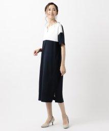 KUMIKYOKU(LARGE SIZE)/【WEB限定色あり】 リブコンビポンチ ワンピース/502471997