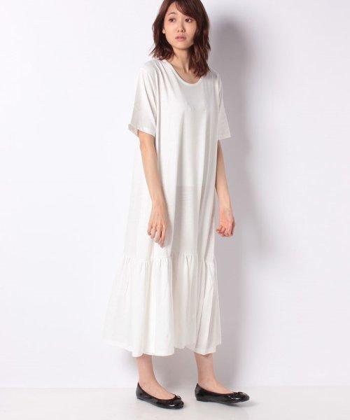 KOBE LETTUCE(神戸レタス)/裾ティアード半袖カットソーワンピース/E2083