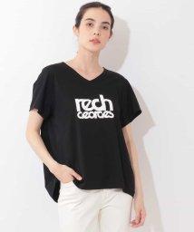 GEORGES RECH/【洗濯機OK】VネックロゴTシャツ/502472804